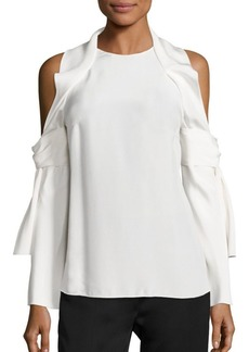 3.1 Phillip Lim Cold-Shoulder Silk Top