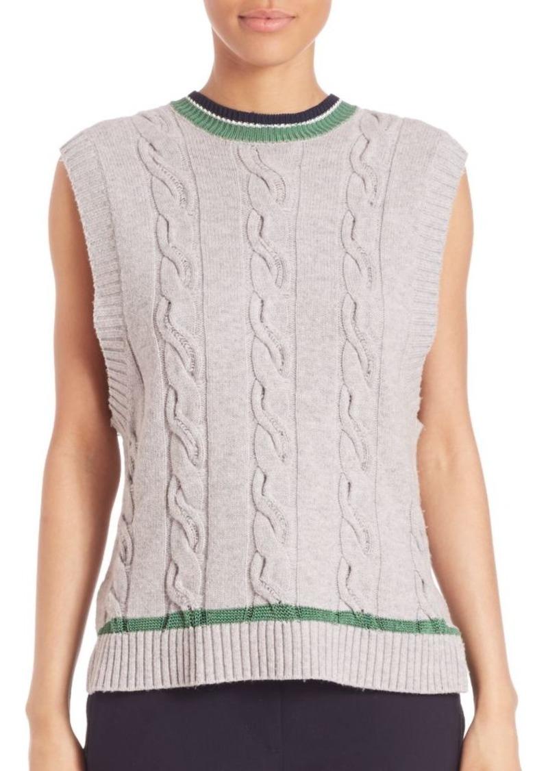 3.1 Phillip Lim Collegiate Sleeveless Knit Tank