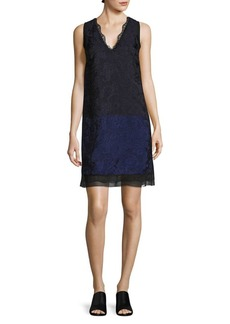 3.1 Phillip Lim Colorblock Lace Shift Dress
