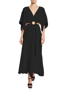 3.1 Phillip Lim Crepe A-line Cutout Maxi Dress