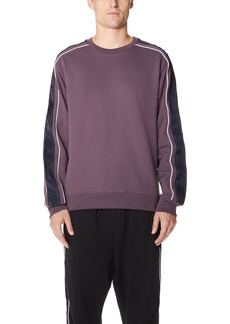 3.1 Phillip Lim Crew Neck Sweatshirt with Track Stripe