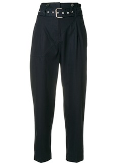 3.1 Phillip Lim cropped belted trousers - Blue