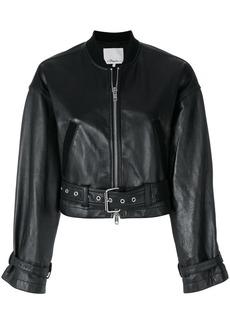 3.1 Phillip Lim cropped bomber jacket - Black