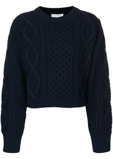 3.1 Phillip Lim Cropped cable-knit sweater - Blue