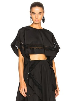 3.1 phillip lim Cropped Eyelet Top