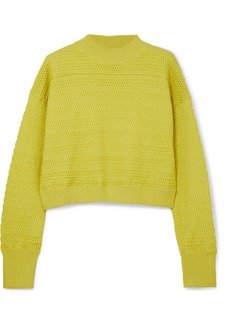 3.1 Phillip Lim Cropped Knitted Sweater