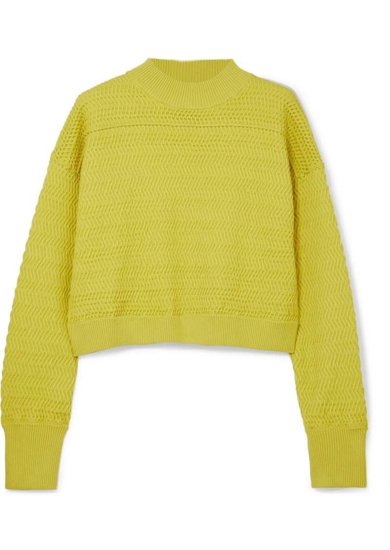 2e38c1fb8668 3.1 Phillip Lim Cropped Knitted Sweater