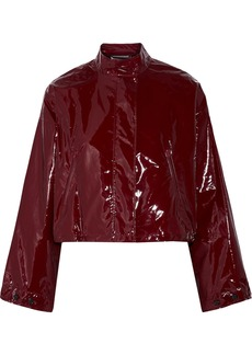 Cropped vinyl jacket