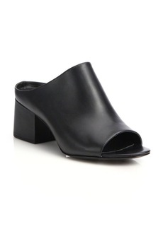 3.1 Phillip Lim Cube Leather Block-Heel Mules