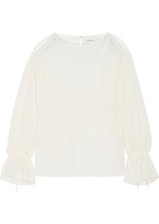 3.1 Phillip Lim Cutout crinkled cotton-blend blouse