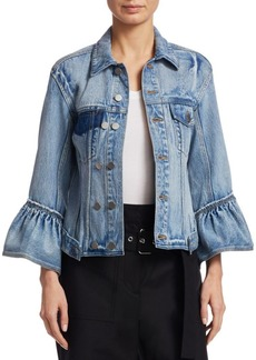 3.1 Phillip Lim Denim Ruffle Jacket