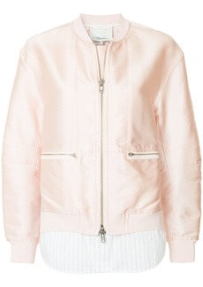 3.1 Phillip Lim double layer bomber jacket - Pink & Purple