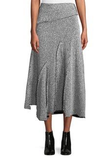 3.1 Phillip Lim Draped Wool Asymmetric Midi Skirt