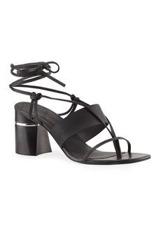 3.1 Phillip Lim Drum Ankle-Wrap Leather Sandals