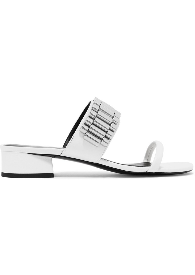 3.1 Phillip Lim Drum chain-embellished leather sandals
