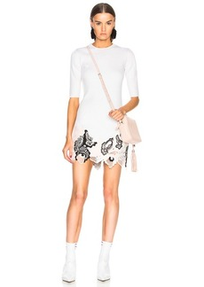 3.1 phillip lim Embroidered Lace Ribbed Dress