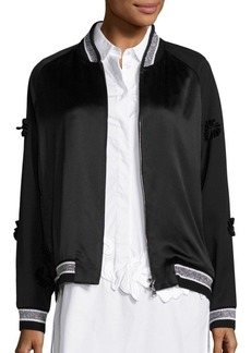 3.1 Phillip Lim Embroidered Wool Tuxedo Bomber Jacket