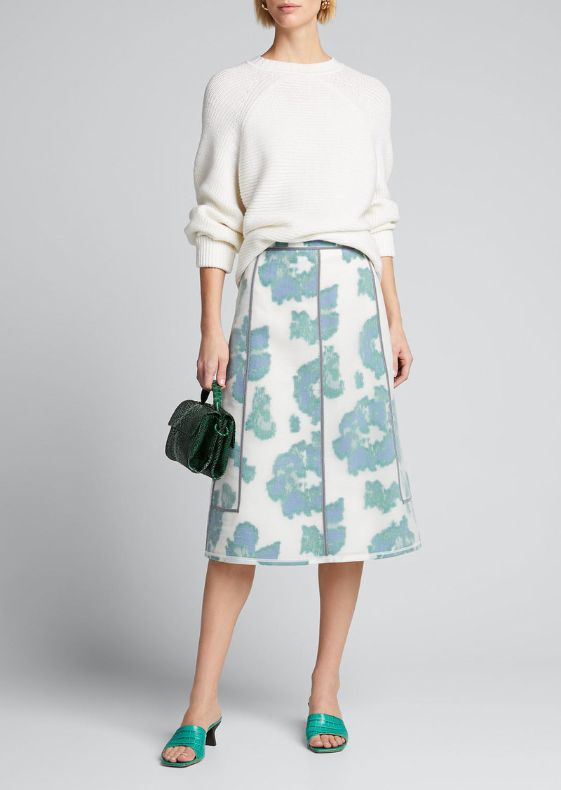 3.1 Phillip Lim Fil Coupe Abstract Daisy Seamed Skirt