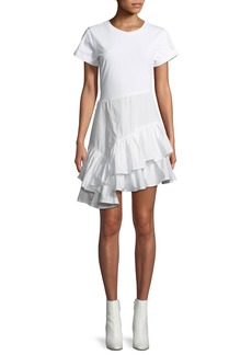 3.1 Phillip Lim Flamenco Cotton T-Shirt Mini Dress