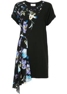 3.1 Phillip Lim floral asymmetric T-shirt dress - Black