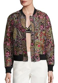 3.1 Phillip Lim Floral Cloque Bomber Jacket