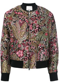 3.1 Phillip Lim floral cropped bomber jacket - Multicolour