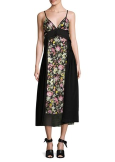 3.1 Phillip Lim Floral-Print Silk Midi Dress