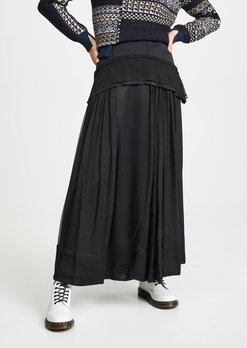 3.1 Phillip Lim Flou Skirt with Peplum