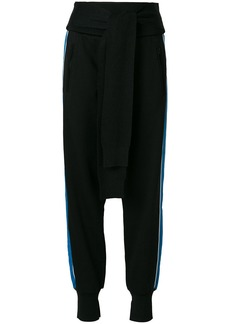 3.1 Phillip Lim French-Terry tie-front joggers - Black