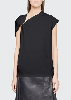 3.1 Phillip Lim Gathered Jersey Tank with O-Ring