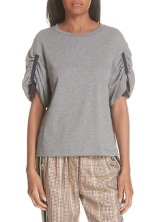 3.1 Phillip Lim Gathered Sleeve Tee