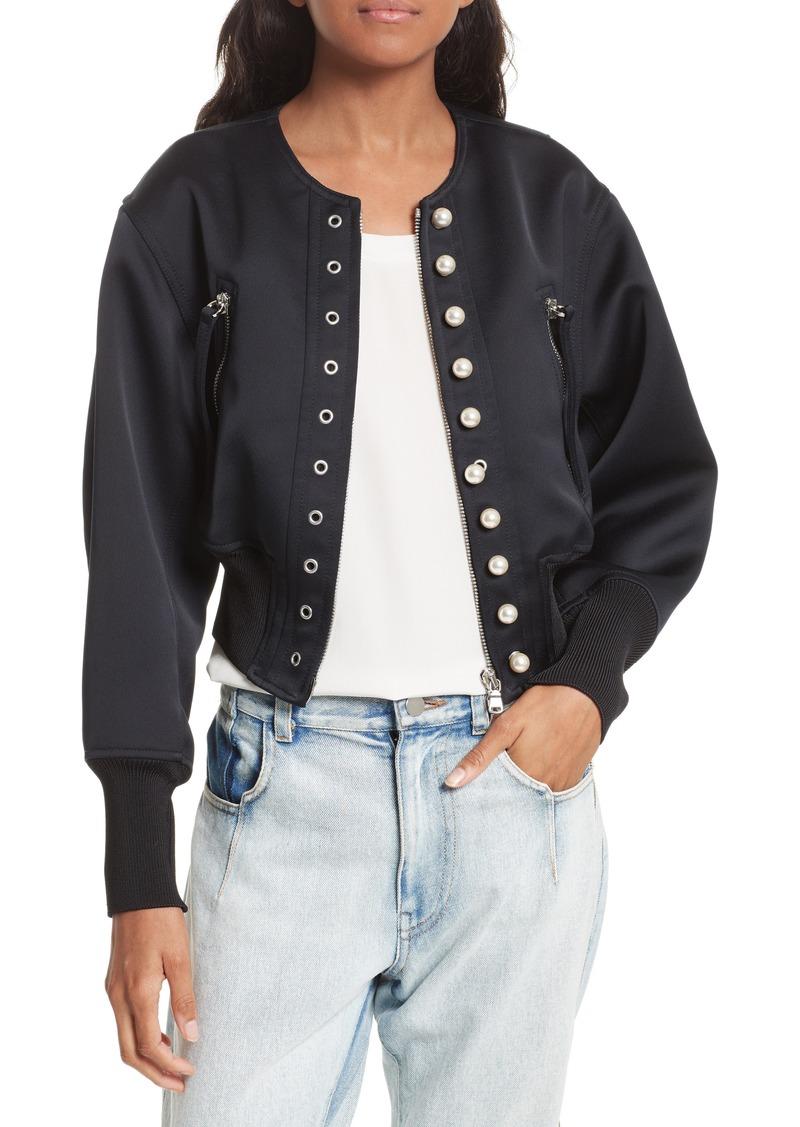 gingham bomber jacket - Black 3.1 Phillip Lim Discount Find Great O7jb76J