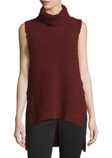 3.1 Phillip Lim High-Low Boucle Turtleneck Tank