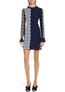 3.1 Phillip Lim Intarsia Lace Wool Blend Dress
