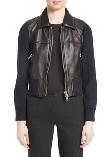 3.1 Phillip Lim Knit Combo Leather Jacket