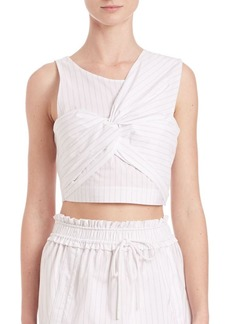 3.1 Phillip Lim Knotted-Front Cropped Tank Top