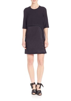 3.1 Phillip Lim Lace-Up Detail Wool Shift Dress