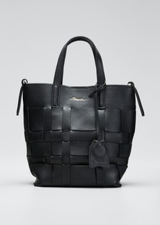 3.1 Phillip Lim Lattice Woven Leather Bucket Tote Bag