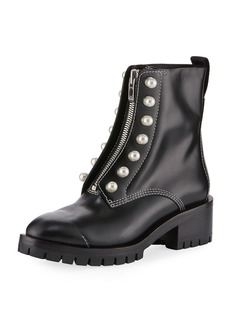 3.1 Phillip Lim Leather Lug-Sole Zip-Front Boot