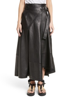 3.1 Phillip Lim Leather Utility Skirt