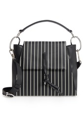 3.1 Phillip Lim Leigh Stripe Top Handle Leather Satchel