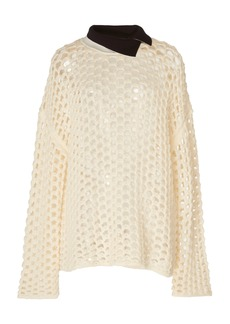 3.1 Phillip Lim Long Sleeve Chunky Open Knit Pullover