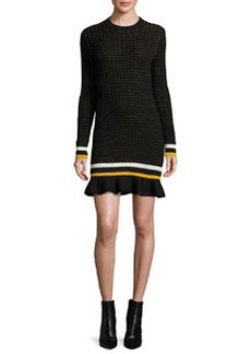 3.1 Phillip Lim Long-Sleeve Cotton Crochet Mini Dress
