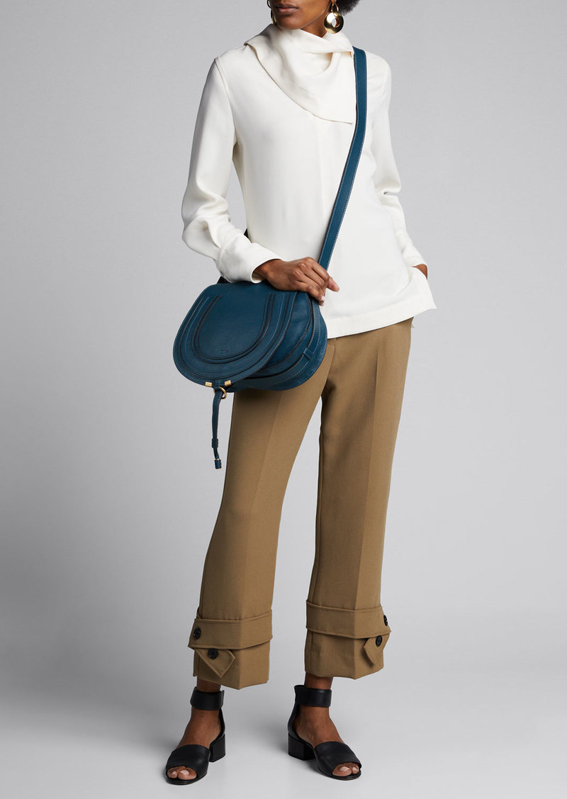 3.1 Phillip Lim Long-Sleeve Crepe Blouse w/ Scarf