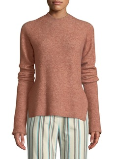 3.1 Phillip Lim Long-Sleeve Lofty Rib Alpaca-Blend Pullover Sweater