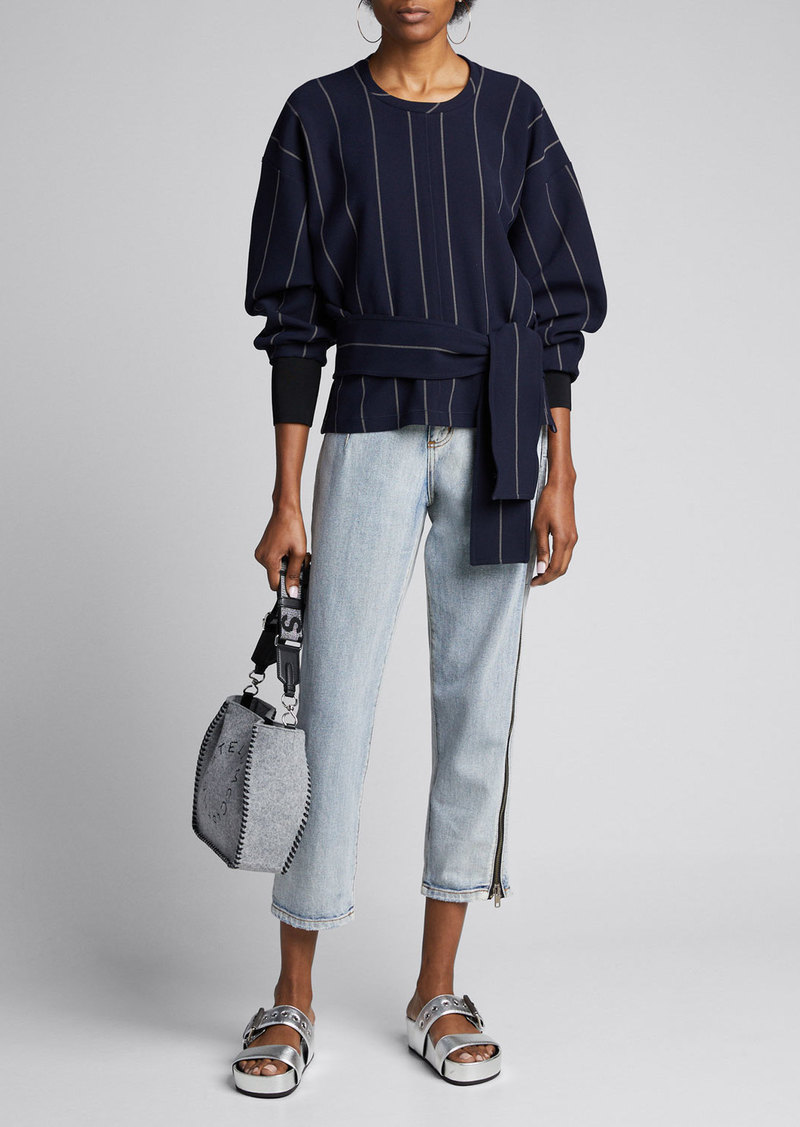 3.1 Phillip Lim Long-Sleeve Striped Pullover w/ Belt