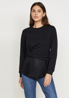 3.1 Phillip Lim Long Sleeve Twist Pullover with Pleating