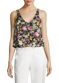 3.1 Phillip Lim Meadow Floral-Print Silk Top