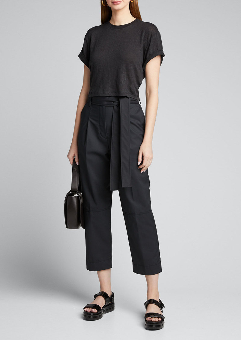 3.1 Phillip Lim Menswear Cropped Belted Pants
