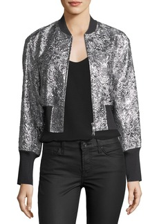 3.1 Phillip Lim Metallic Floral Burnout Bomber Jacket